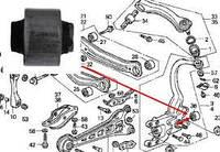 Втулка амортизатора зад. подвески HONDA ACCORD CL 02-08