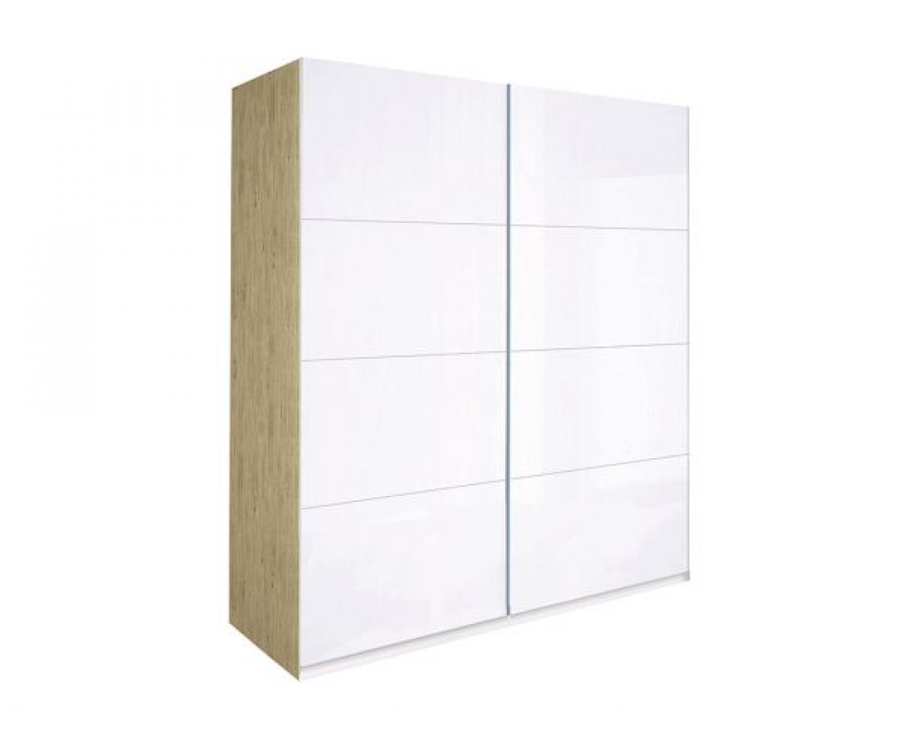 Двухдверный шкаф купе Флоренция  (2 Двери Глянец Белый)  MiroMark