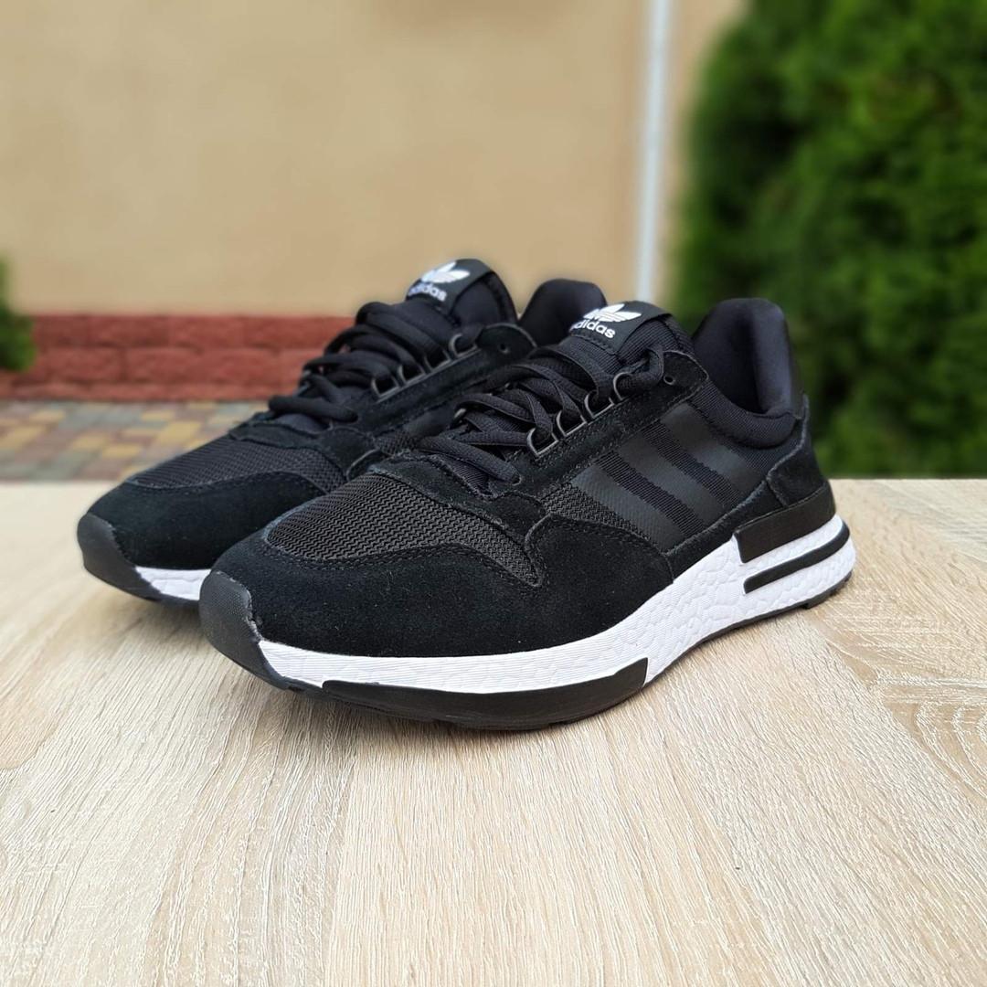 Мужские кроссовки Adidas ZX 500 (черные) 10144