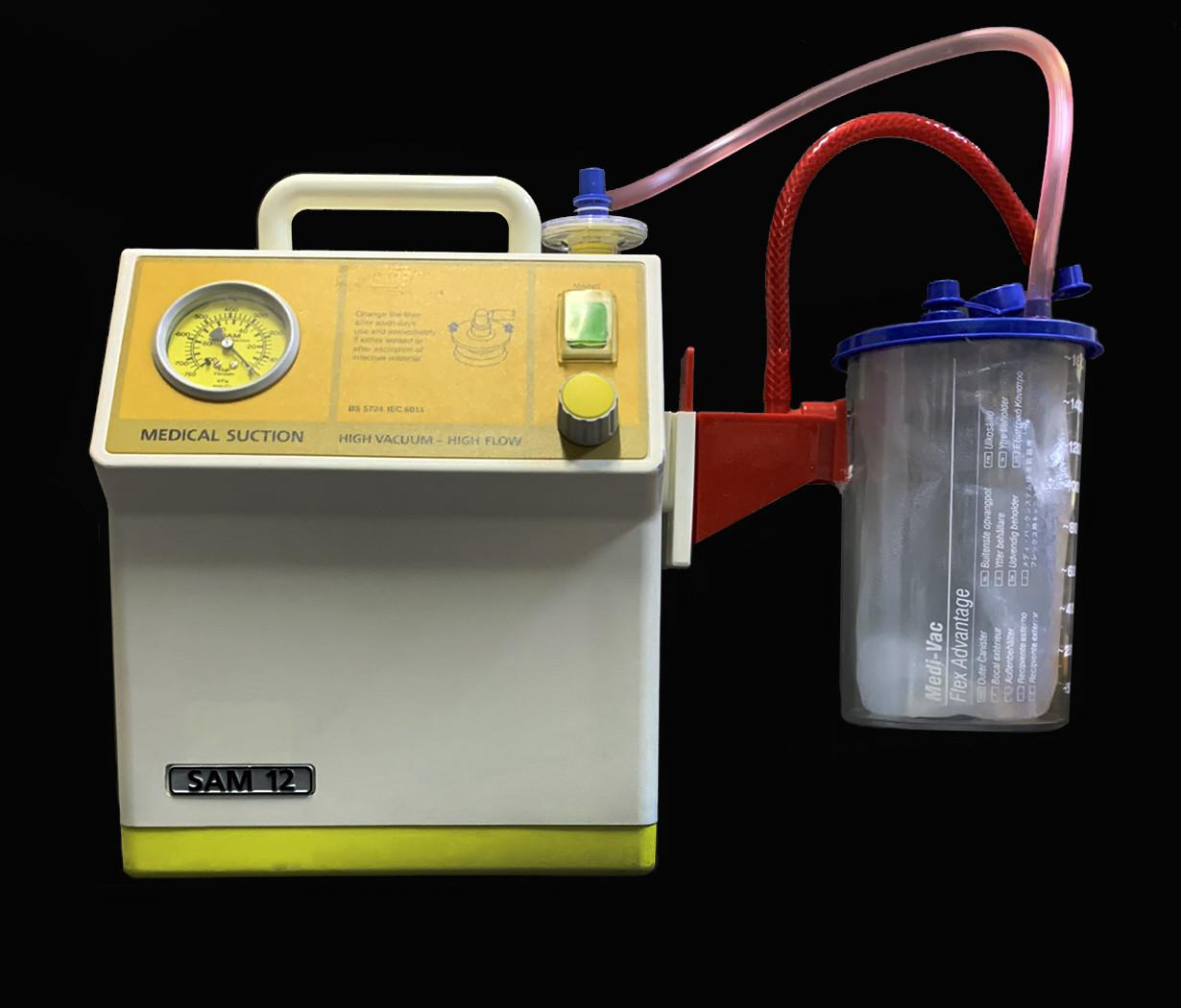 Відсмоктувач Sam 12. Максимальний від'ємний тиск 1 атмосфера, колба 1500мл