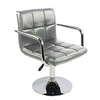 Кресло парикмахера Артур серый на блине от SDM Group, экокожа