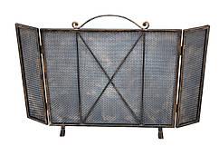 Кованая каминная решетка с защитой от угольков