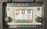 Спика GTAW TIG-250 AC DC PFC LCD аргоновая сварка, фото 2