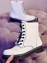 Белые ботинки в стиле Dr. Martens Доктор Мартинс женские Весна Осень