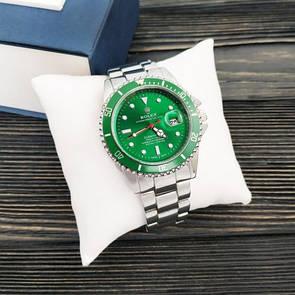 Мужские часы Rolex Submariner 6478 Silver-Green