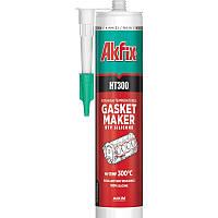 Термостойкий силиконовый герметик  Akfix HT300 310мл красный