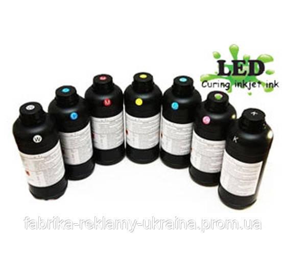 UV Led чернила Epson DX series (DX-4 ,DX-5,DX-6,DX-7,xp-600) цвет Black