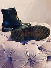 Осінні черевики в стилі Dr. Martens Доктор Мартінс жіночі чорні, фото 3