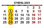 Графік обсмаження кави КНБК Січень 2021