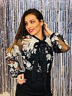 Нарядная блуза двойка, фото 1