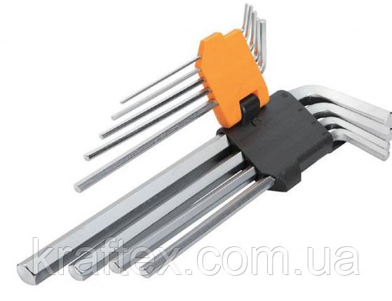 Комплект подовжених шестигранних ключів 9 шт 1.5-10мм, фото 2