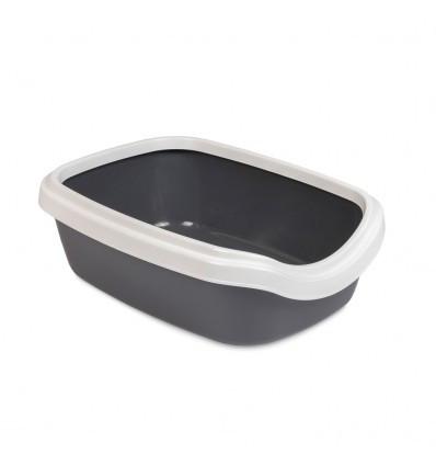 Туалет для котов Comfort М серый 41х30х13,5 см Природа