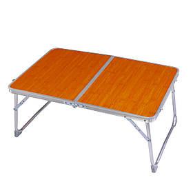 Складной столик чемодан для завтрака и ноутбука в кровать Бамбук