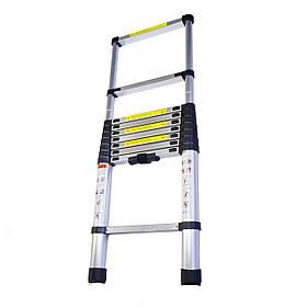 Раскладная телескопическая лестница алюминиевая раздвижная 2,9 м