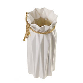 Красива маленька декоративна вазочка інтер'єрна для сухих квітів, білий