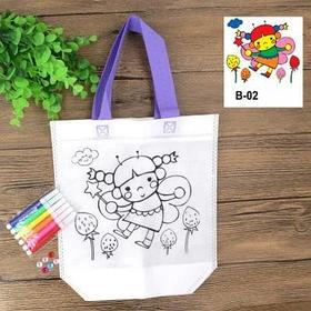 Детская эко сумка раскраска с маркерами для разрисовки, фея