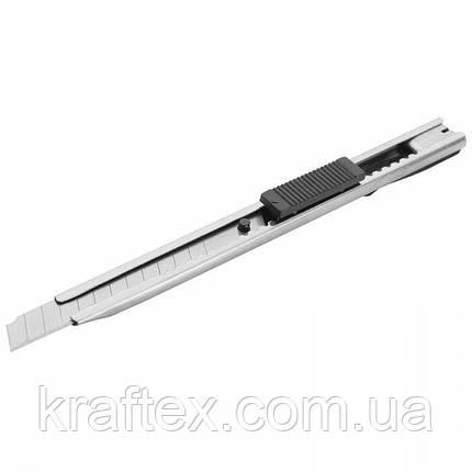 Ніж сегментний сталевий 9 мм, фото 2