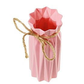 Красива маленька декоративна вазочка інтер'єрна для сухих квітів, рожевий