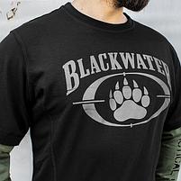 """Футболка с рукавами """"BLACK WATER"""" Black & Olive, фото 4"""