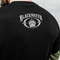 """Футболка с рукавами """"BLACK WATER"""" Black & Olive, фото 5"""