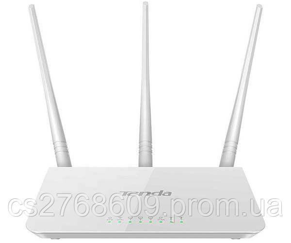 """WI-FI роутер """"Tenda"""" F3 (3 антени, 300Мбіт/с, 1 порт WAN, 3 порти LAN)"""