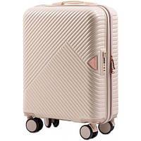 Дорожный чемодан wings WN-01 белый размер S (ручная кладь), фото 1