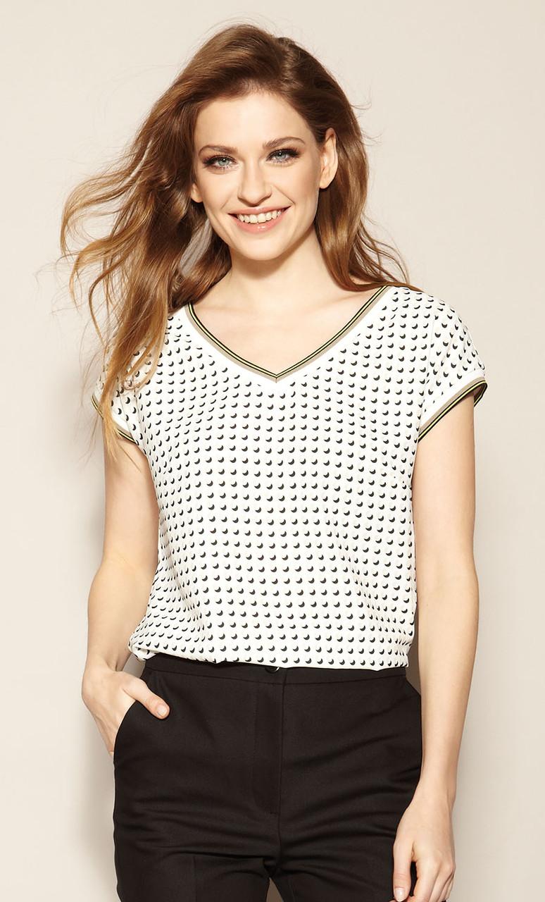 Zaps блуза Augusta молочного цвета. Коллекция весна-лето 2021