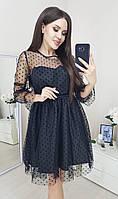 Нарядное коктейльное платье сетка, фото 1