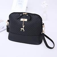 Женская сумка клатч Бэмби + ПОДАРОК! / Сумка Бемби Черная ( 23 x 20 x 10 см)