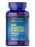 N-ацетилцистеин (NAC), N-Acetyl Cysteine (NAC), Puritan's Pride, 600 мг, 120 капсул