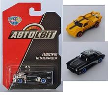 Машина арт 2766 АвтоСвіт, метал, 7 см, рез.колеса, 16 видів, на аркуші, 10,5-16,5-3,5 см