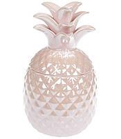 Банка керамическая Ананас 550мл, цвет - розовый перламутр 739-104