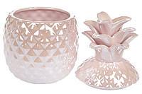 УЦЕНКА!!! Банка керамическая Ананас 1.1л, цвет - розовый перламутр