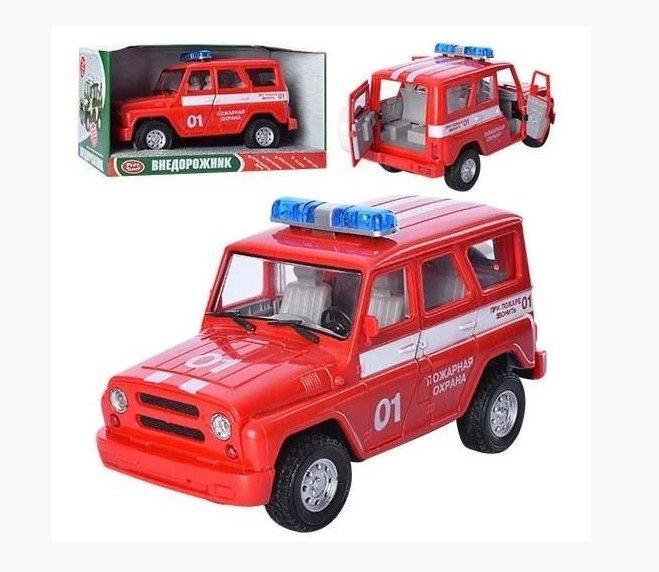 Машина УАЗ Пожарная охрана 9076-E со светом и звуком