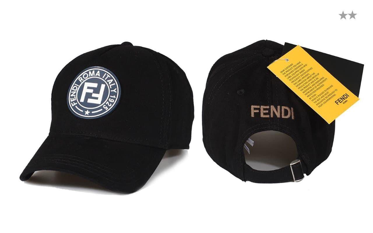 Брендовая кепка Fendi CK1674 черная