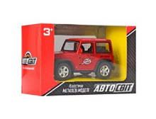 Джип арт 2241 АвтоСвіт, метал,инерц, 9,5 см, рез.колеса,4 кольори, в кор-ке, 12,5-8-6см