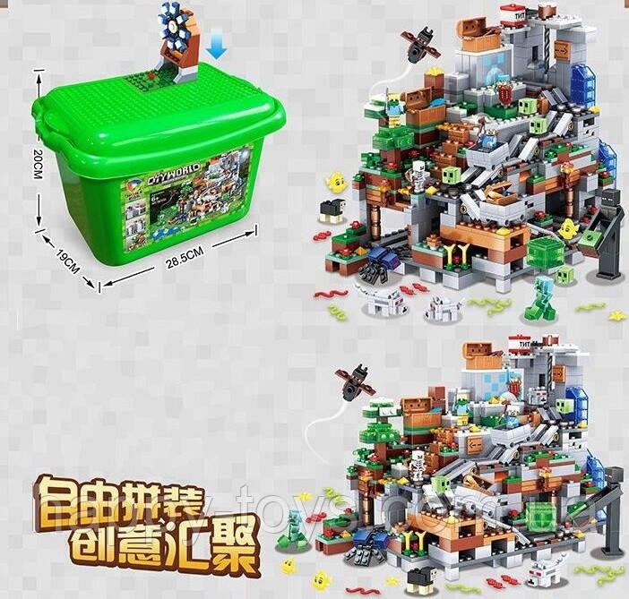 Конструктор Minecraft в ящике Майнкрафт Шахта с сокровищами My World 7434