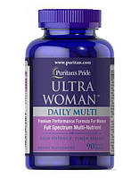 Витамины для женщин Puritan's Pride Ultra Women Daily Multi Iron Free Timed Release 90