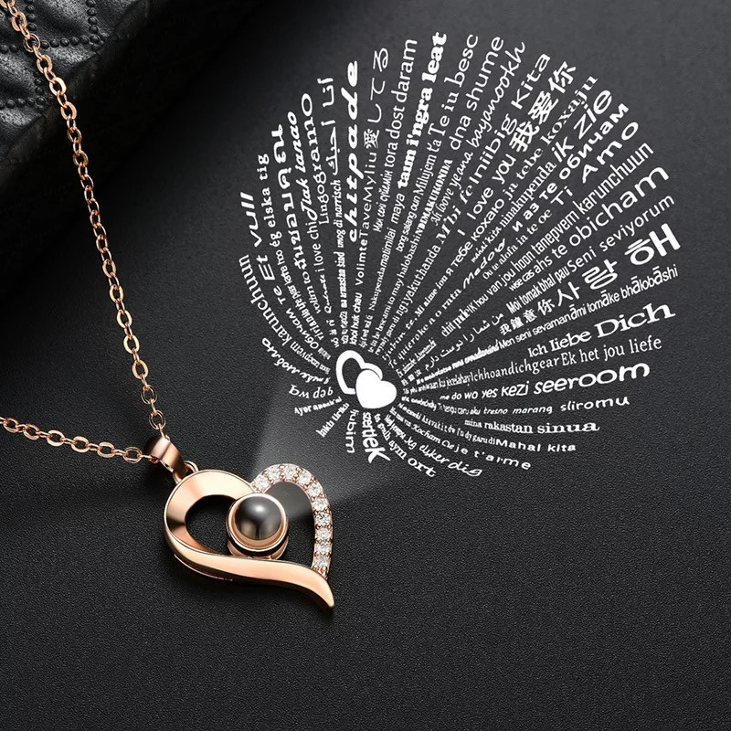 Кулон I love you на 100 языках мира