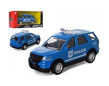 Джип арт 2249 АвтоСвіт, метал,інер-я,10,5 см,рез.кількість, 3вид(поліція 2цв),в кор-ке,15-7-6,5 см синя.