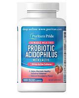 Пробіотик Ацидофілус, полуничний, Probiotic Acidophilus Chewables, Puritan's Pride, 100 жувальних цукерок