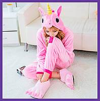 Пижама кигуруми розовый единорог на Детей