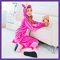 Пижама кигуруми Розовый Единорог Размер 150-170