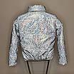 Куртка женская светоотражающая из рефлективной ткани с голографическим принтом, фото 5