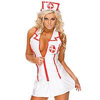 Сексуальный игровой костюм медсестры Dear Lover 0302 Белый, фото 1