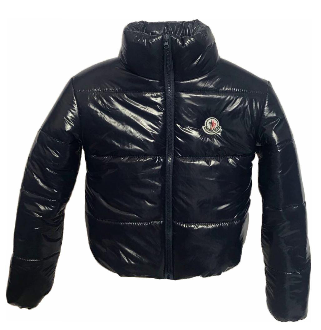 Дутая куртка из лаковой плащевки, цвет синий, размеры 42 - 48