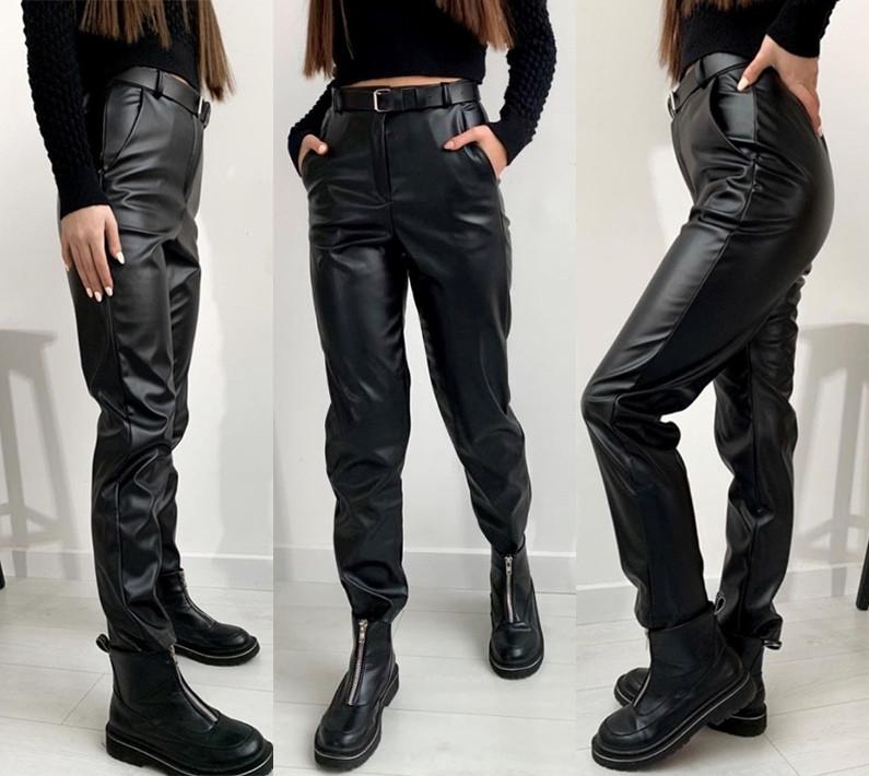 """Женские брюки кожаные на флисе """"Muse"""""""
