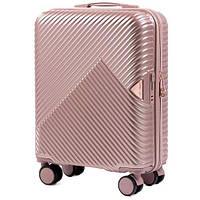 Дорожный чемодан wings WN-01 rose gold размер S (ручная кладь), фото 1