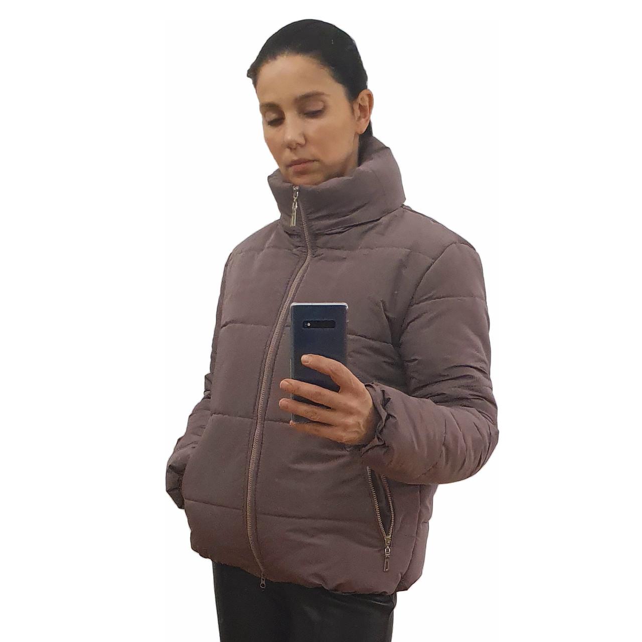 Модная женская куртка р. с 42 по 48 модель вик.лиловый