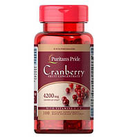Екстракт журавлини Puritan's Pride Cranberry Fruit Concentrate with C & E 4200 mg 100 Softgels